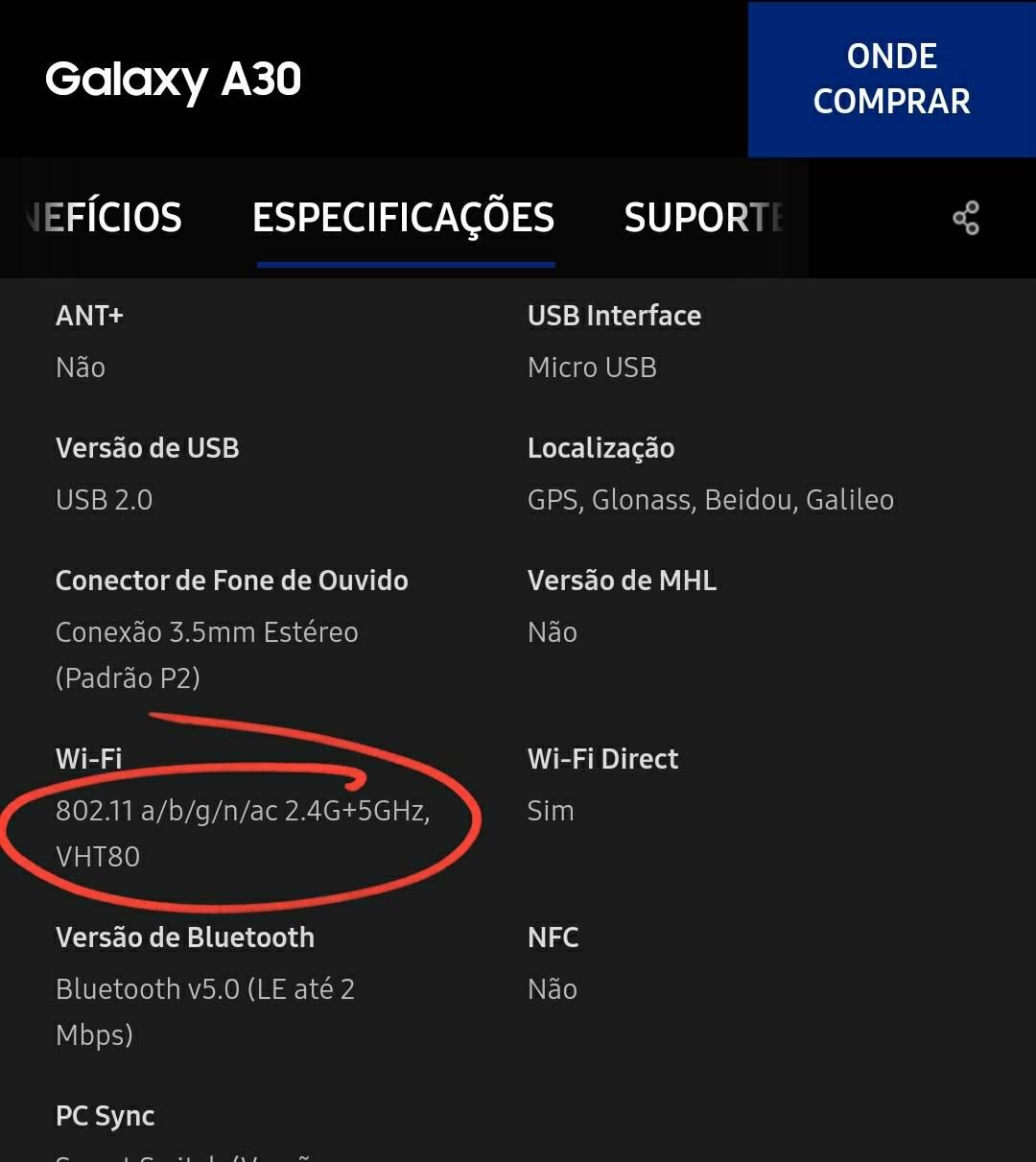A20s não conecta no wifi 20G   Samsung Members