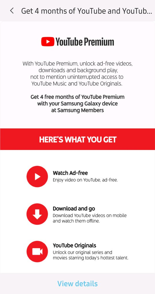 Re: Re: YouTube premium 4 months free info - Page 2 - Samsung Global US