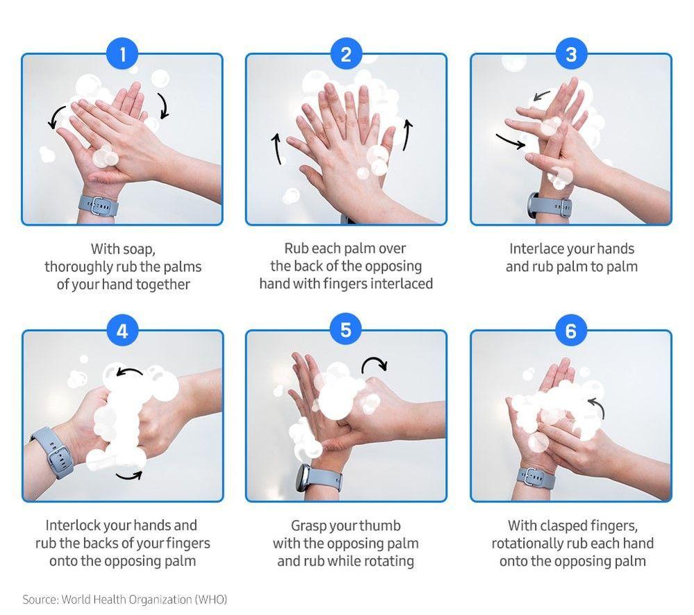 Galaxy Watch Handwash app