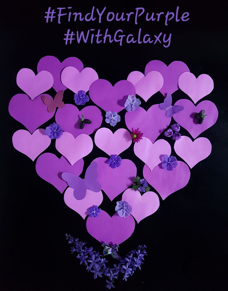 #FindYourPurple #WithGalaxy