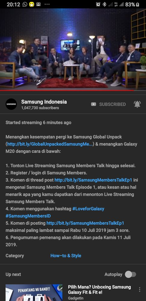 Langsung Buka live streaming