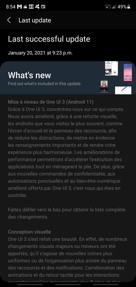 Android 11 One UI 3.0