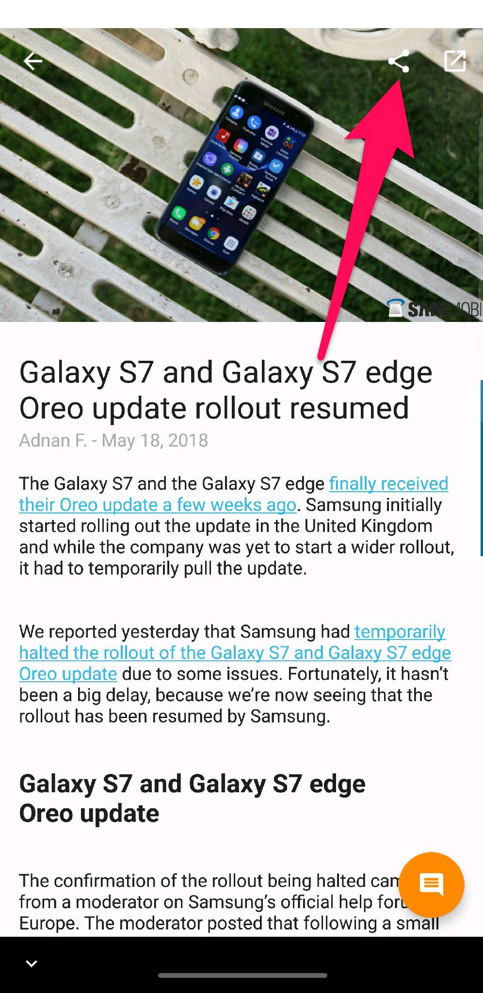 S7/S7e Oreo Update resumes in the UK - Samsung Global US