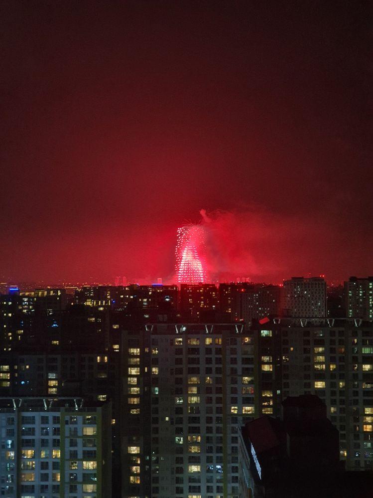 사우론타워의 불꽃놀이