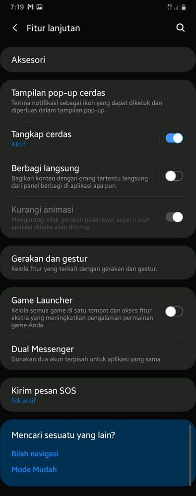 screenshot panjang di galaxy a20