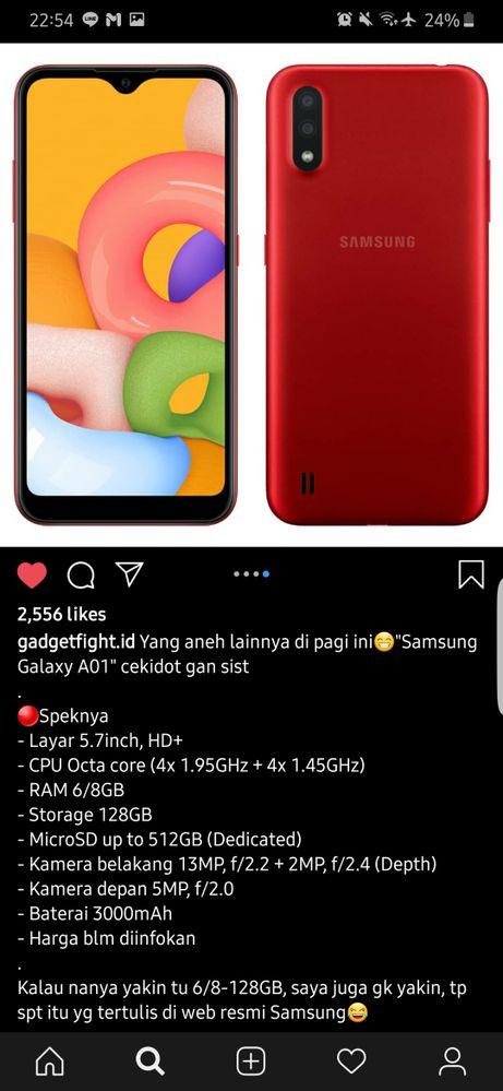 Samsung Galaxy A01 Samsung Members