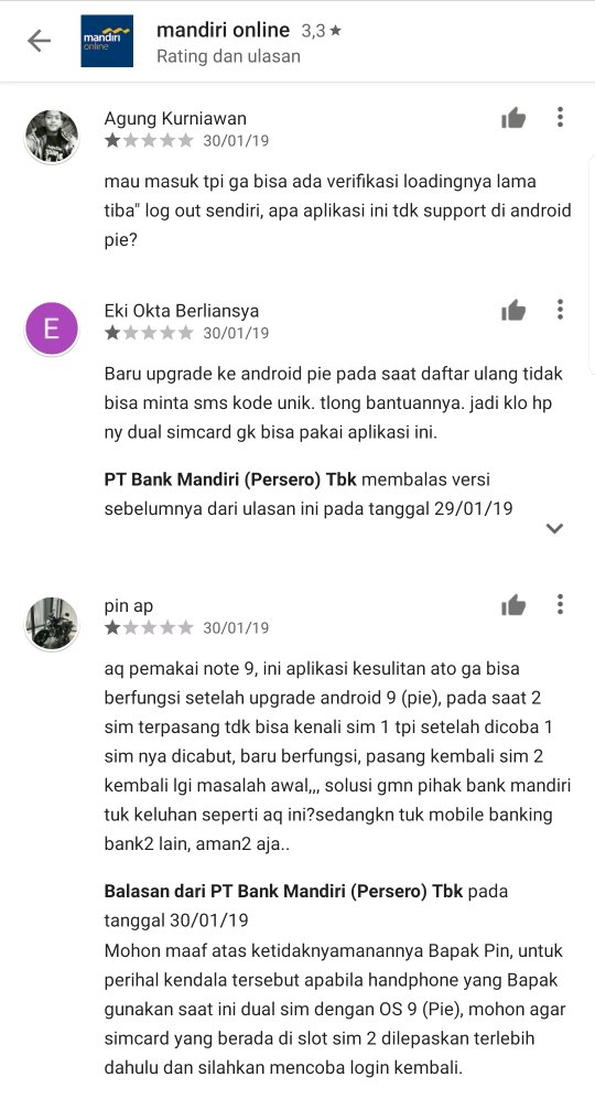 Mandiri Online Note 9 Pie Gagal Login Samsung Members