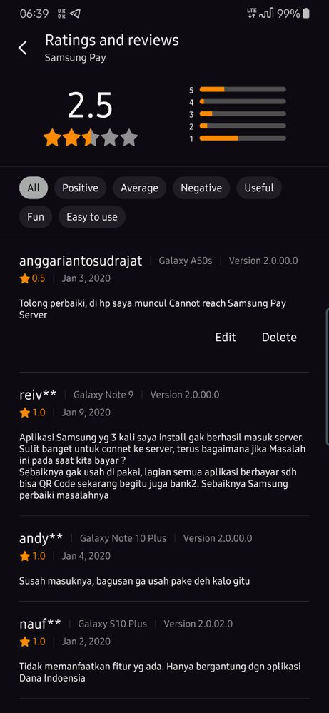 Keluhan Aplikasi Samsung Pay Di Galaxy Store Samsung Members