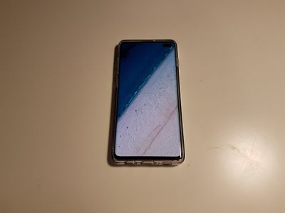 The phone in the protector after one month.